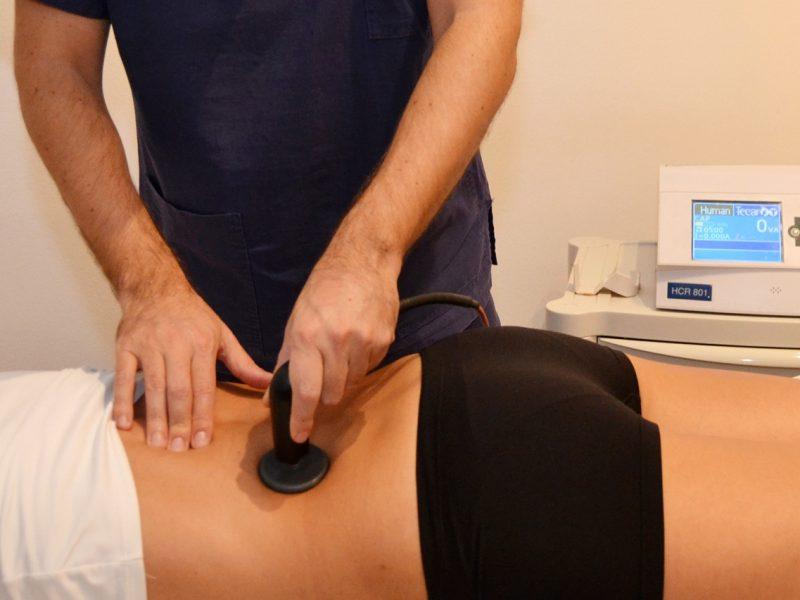 Tecarterapia alla schiena - Milano Bocconi